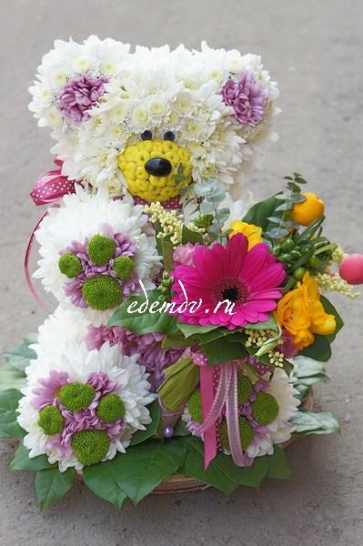 Животные из цветов купить
