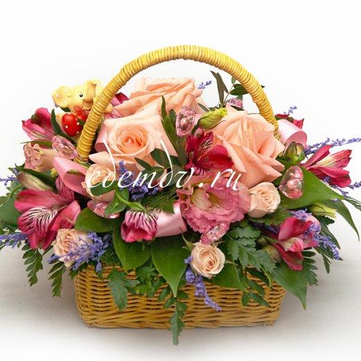 Корзины цветов в минске